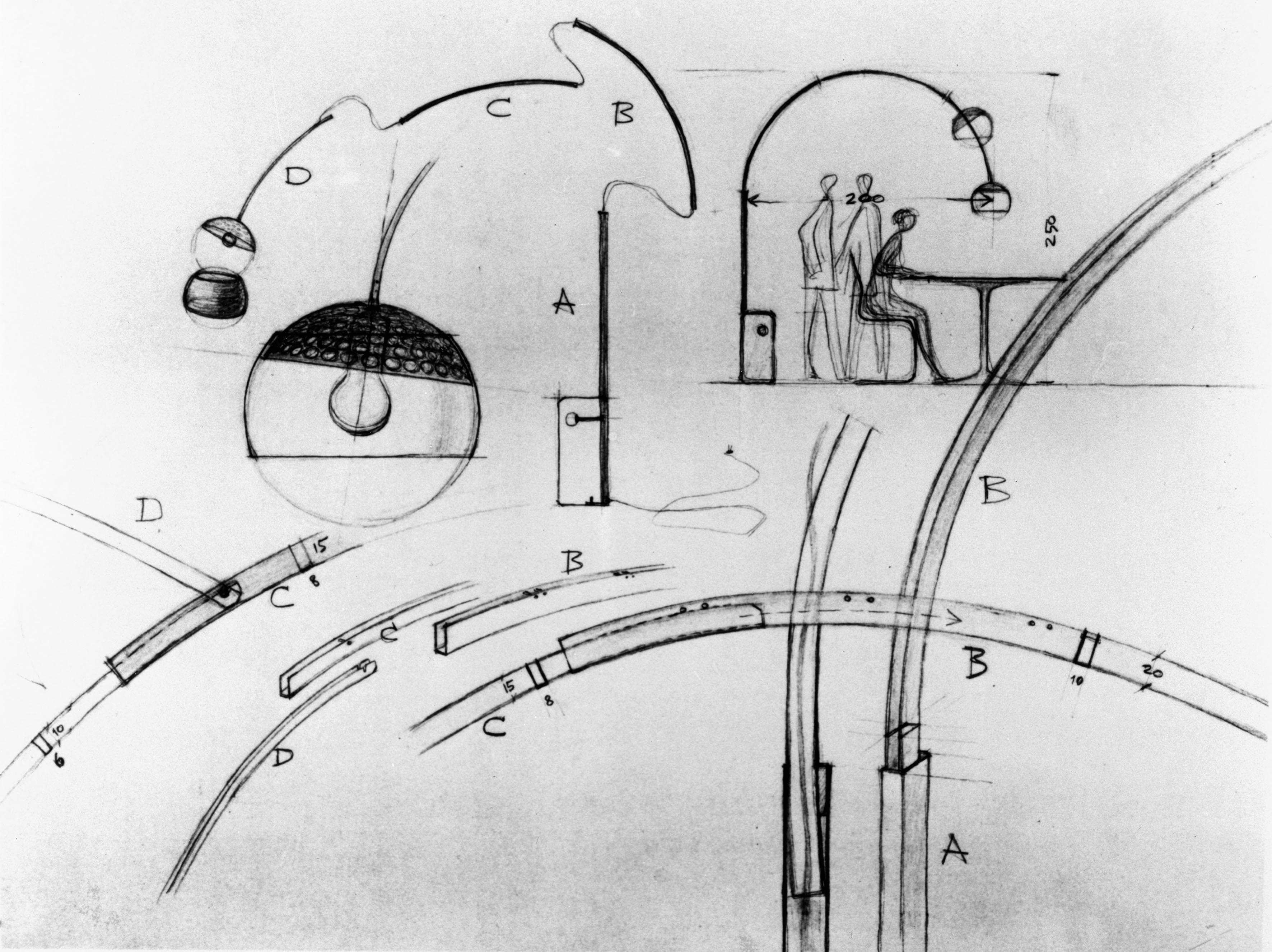 Arco led el homenaje de flos a su m tica luminaria for Arco castiglioni