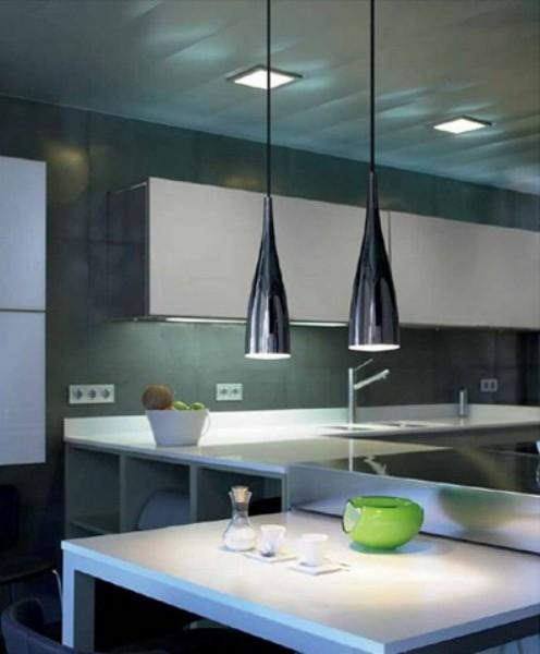 Iluminaci n estancias interior l mparas cocina - Lamparas colgantes cocina ...