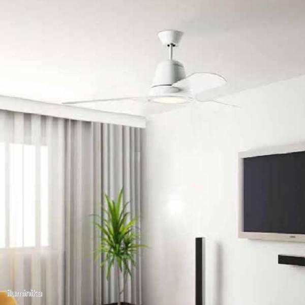 Ventiladores leds c4 con iluminaci n led consejos ventilaci n l mparas iluminaci n y dise o - Ventiladores de techo de diseno ...
