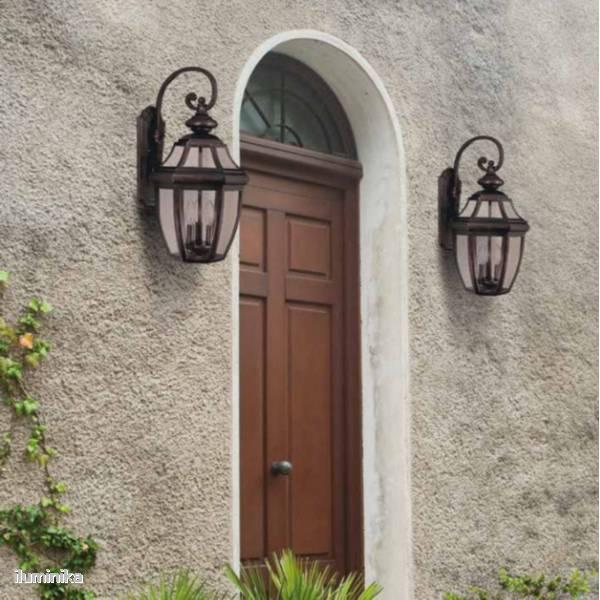 Iluminaci n exterior decoraci n seguridad y visibilidad - Farolas de pared ...