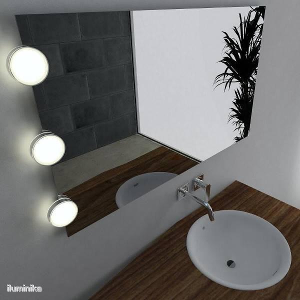Exlum luminarias led para ba o y m s l mparas - Iluminacion para espejos de bano ...