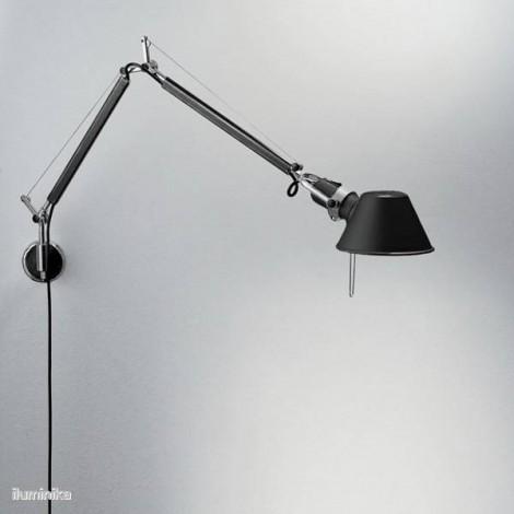 A005940+A025150, Lámpara Aplique Tolomeo Mini Parete Halógena Negro Artemide