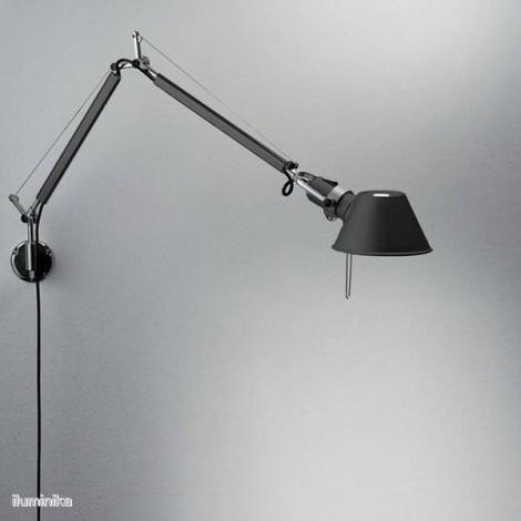 A010930+A025150, Lámpara Aplique Tolomeo Micro Parete Negro Artemide