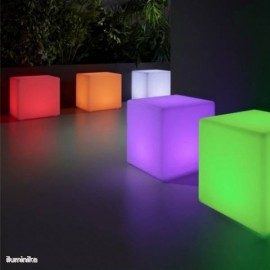 Cubo luminoso Cuby 45 Batería+Solar RGB