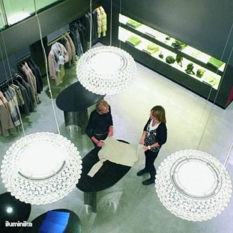 Lámpara Caboche LED Mediana Transparente, 138007L 16 Foscarini