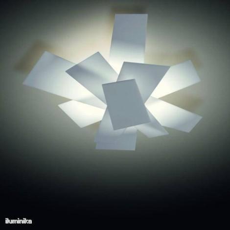 151005 10 foscarini, Lámpara plafón Big Bang Blanco