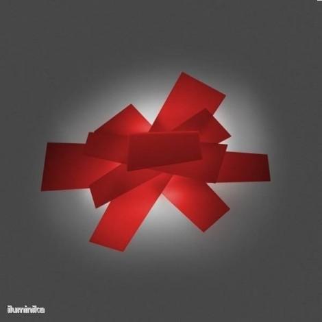 151005 63 foscarini, Lámpara plafón Big Bang Rojo