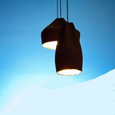Lámpara Colgante Pleat Box 13 Negro/Blanco Marset
