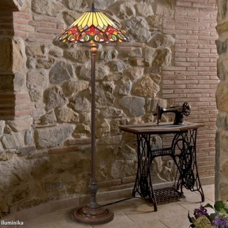 Lámpara de pie Tiffany COT14 + FBB75