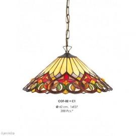 Lámpara Colgante Tiffany COT02 + C1