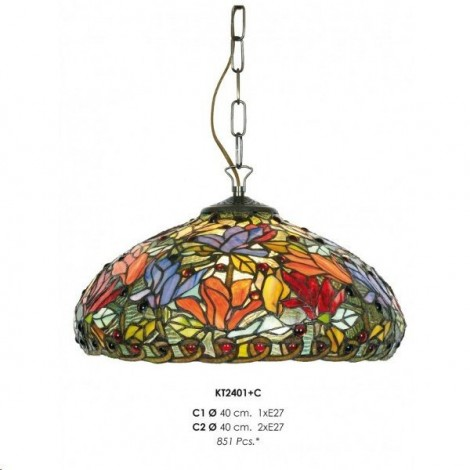 Lámpara Colgante Tiffany KT2401 + C1