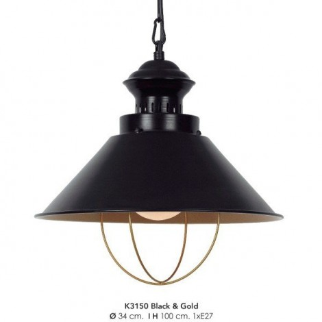 Colgante K3150 Black/ Gold