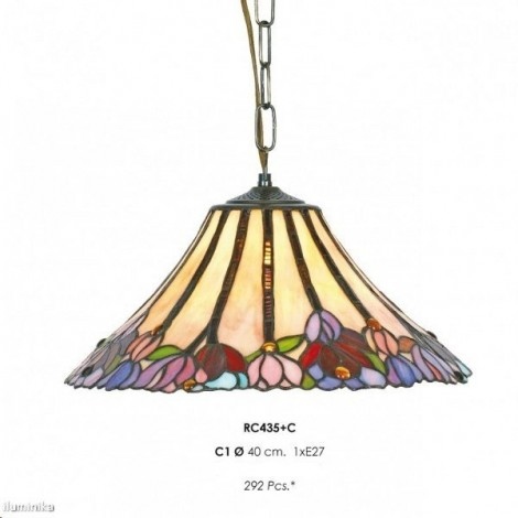 Lámpara Colgante Tiffany RC435+C1