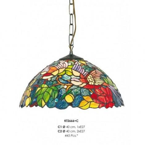 Lámpara Colgante Tiffany KT2666+C1
