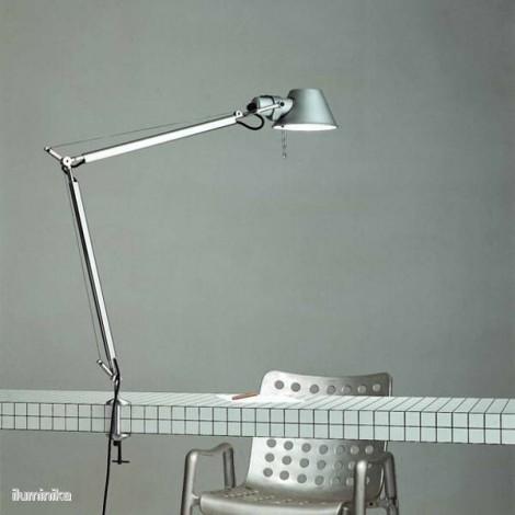 A001000+A004100, Lámpara Sobremesa Tolomeo Aluminio Mordaza Artemide