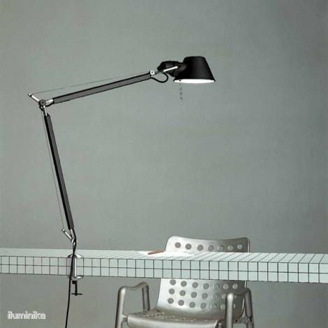 A004430+A004100, Lámpara Sobremesa Tolomeo Negro con Mordaza Artemide