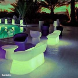 Sofa iluminado Menorca Bench Batería+Solar RGB
