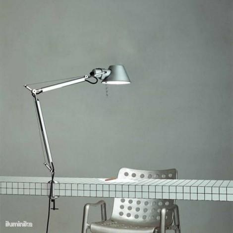 A005600+A004100, Sobremesa Tolomeo Mini LED Aluminio Mordaza Artemide