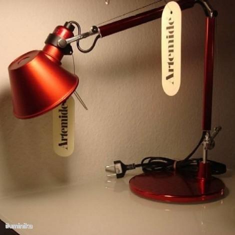 A011810, Lámpara Sobremesa Tolomeo Micro Rojo Anodizado Artemide