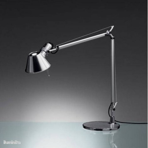 A001300, Lámpara Sobremesa Tolomeo Micro Aluminio Brillante Artemide