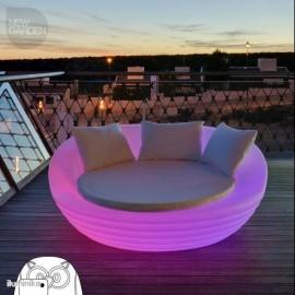 Sofa iluminado Formentera Bateria+Solar RGB