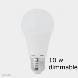 BOMBILLA ESTÁNDAR E27 LED 10W 2700K DIMABLE