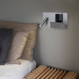 Aplique Suau Plata con lector LED derecha (usb)