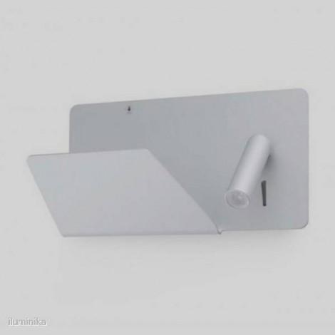 Aplique Suau Plata con lector LED izquierda (usb)