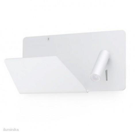 Aplique Suau Blanco con lector LED izquierda (usb)