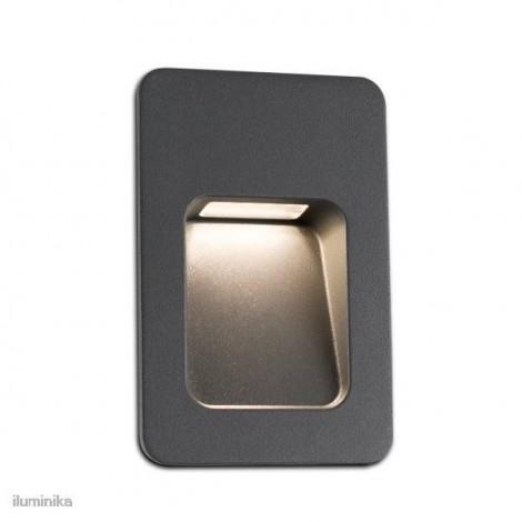 70399 faro, empotrable Led Nase-2, gris oscuro