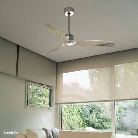 Ventilador Just Fan Cromo/Transparente