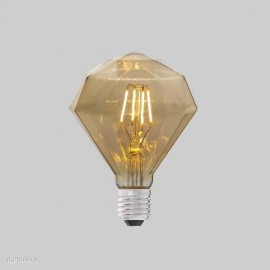 BOMBILLA DIAMANTE ÁMBAR LED E27 4W 2200K