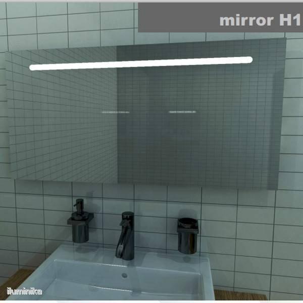 Espejo iluminado led mirror h1 exlum for Espejo horizontal