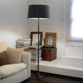 Lámpara de pie Hall Negro