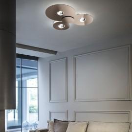 Plafón Led Bugia Triple Cobre, Studio Italia Design