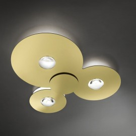 Plafón Led Bugia Triple Oro