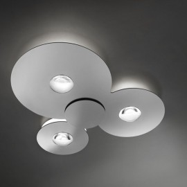 Plafón Led Bugia Triple Cromo