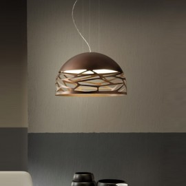 Colgante Led Kelly Small Dome 50 Bronce