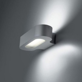 Aplique Led Talo Parete Gris Plata