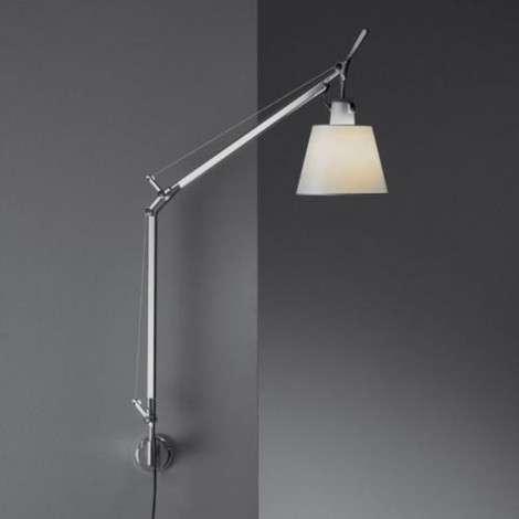 0947010A+A025150, Lámpara Aplique Tolomeo Basculante Parete Pergamino Artemide