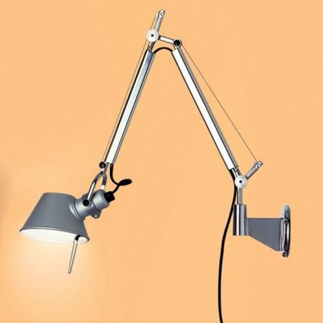 A010900+A025150, Lámpara Aplique Tolomeo Micro Parete Aluminio Artemide