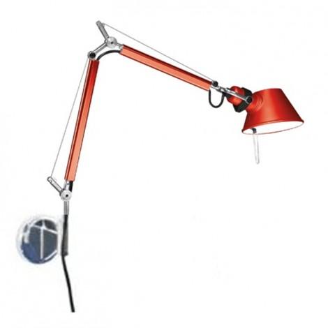 A010910+A025150, Lámpara Aplique Tolomeo Micro Parete Rojo Artemide
