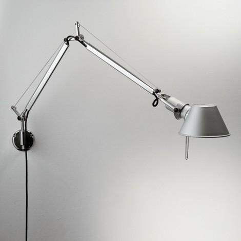 A005910+A025150, Lámpara Aplique Tolomeo Mini Parete Halógena Aluminio Artemide