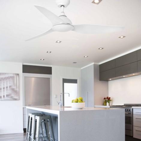 SIOUX Ventilador de techo blanco con motor DC – Faro