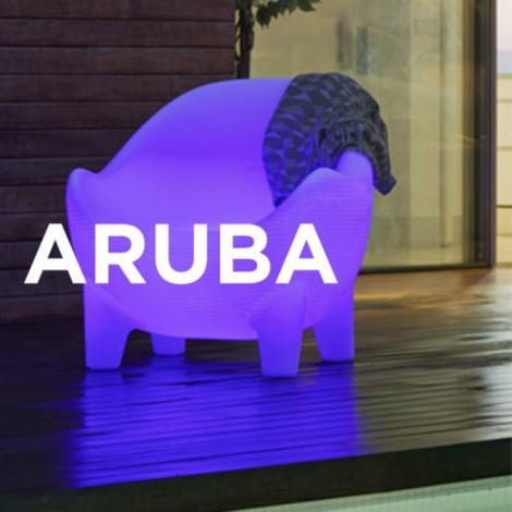 Sillón iluminado Aruba Batería+Solar RGB, New Garden