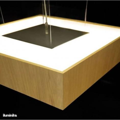 Colgante Quadrat 120 x 120 Roble natural
