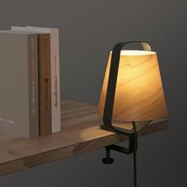 Lámpara pinza STOOD negro y madera