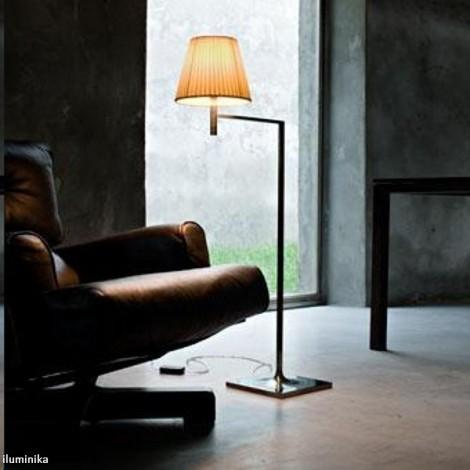 Lámpara de pie KTRIBE F1 CROMO/TELA