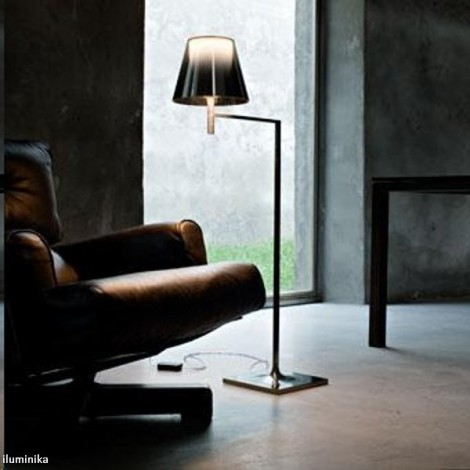 Lámpara de pie KTRIBE F1 CROMO/TRANSPARENTE