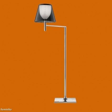 Lámpara de pie KTRIBE F1 CROMO/FUME